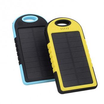Solar Power Bank - Portable AC-DC Mobile Charger - 5000mAh