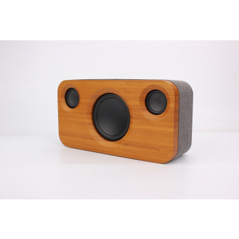 Bamboo Stereo Speaker 2.1 Channel Sound Dual Embedded Speakers