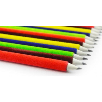 Recycled Velvet pencils (Pack of 10 pencils with Free Sharpener and Eraser)